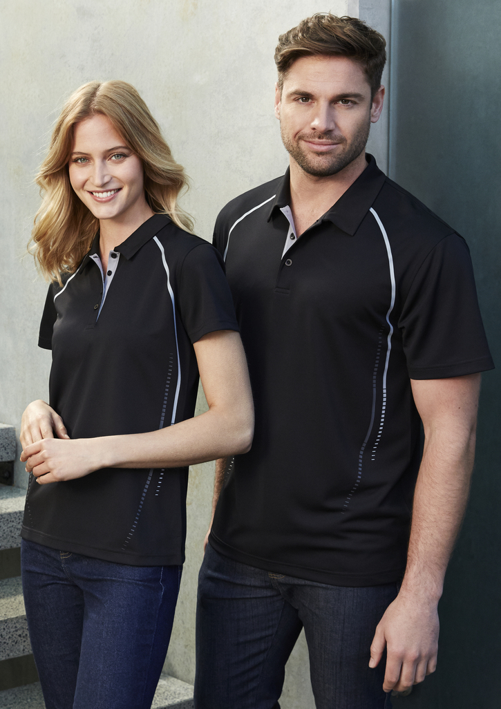 Mens cyber polo clothing direct nz for Spa uniform nz