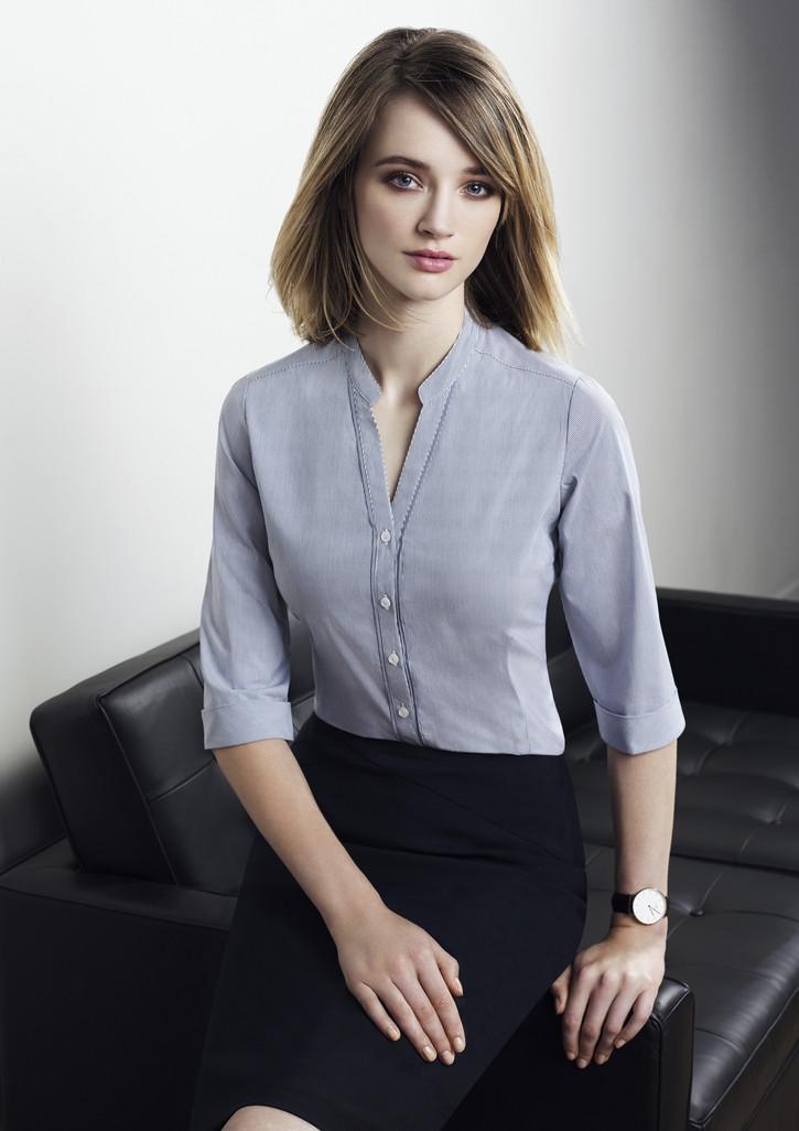 838232d6778 40114 - Bordeaux Ladies 3 4 Sleeve Shirt