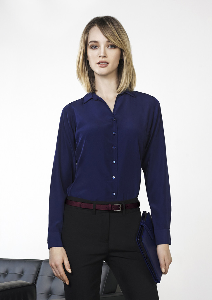 7476f55f94e Biz Corporates | 40410 | Solanda Ladies Plain Long Sleeve Shirt