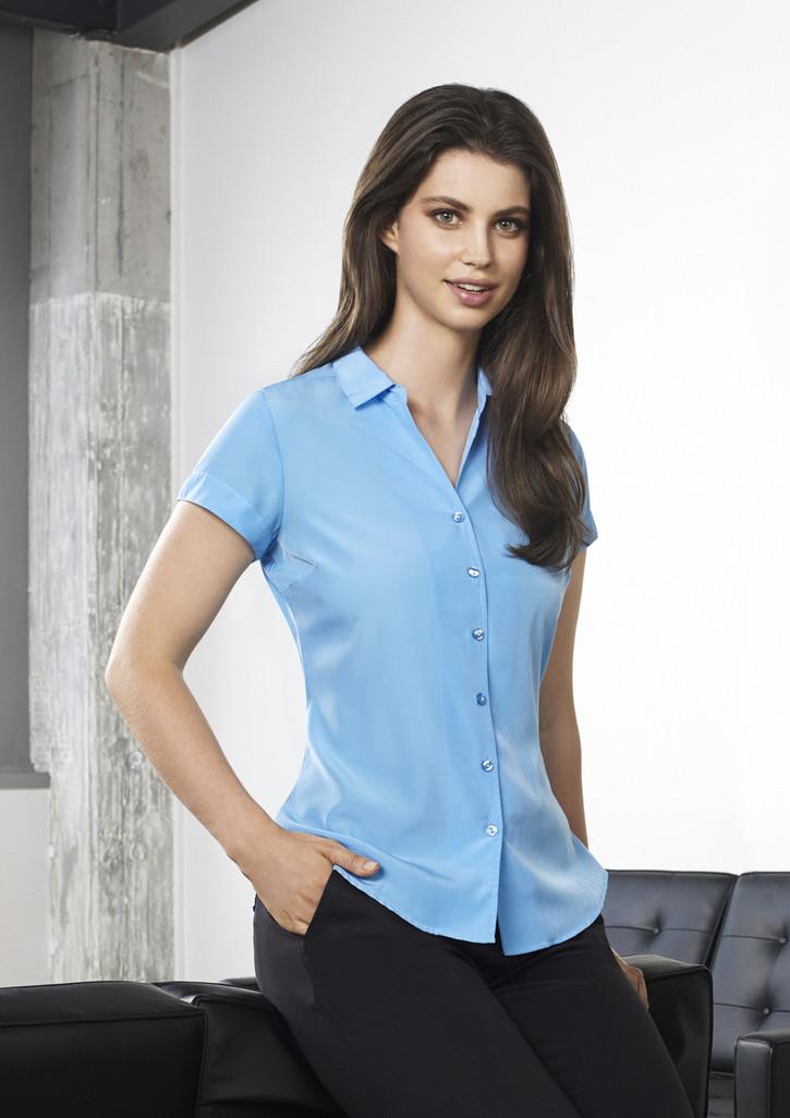 5d15189a379 Biz Corporates | 40412 | Solanda Ladies Plain Short Sleeve Shirt