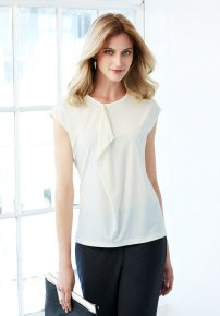 Mia Ladies Knit Pleat Top