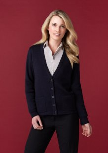 Ladies Button Through Woolmix Cardigan