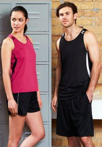 Ladies Bizcool Flash Singlet - Snag Resistant