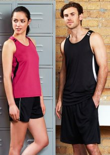 Adults Bizcool Flash Singlet  - Snag Resistant