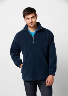 Heavy Weight 1/2 Zip Poly Fleece Top