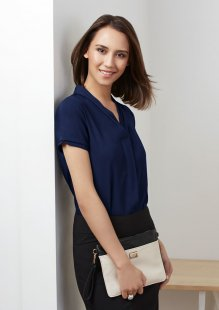 Madison Ladies Short Sleeve Blouse