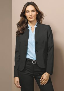 Short Jacket with Reverse Lapel