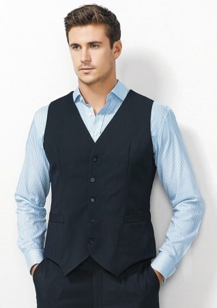 Mens Peaked Vest with Knitted Back