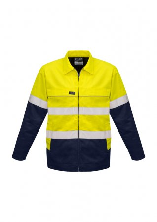 Mens Hi Vis Cotton Drill Jacket